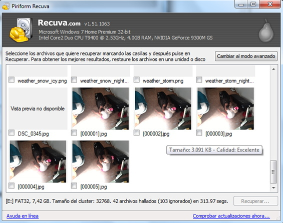 recuperar fotos de la memoria interna