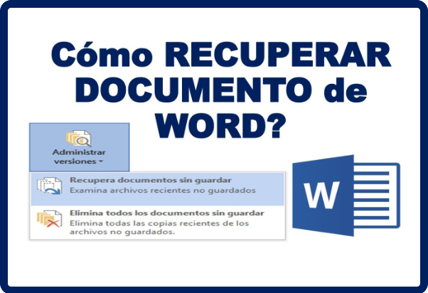 recuperar archivo word sin guardar