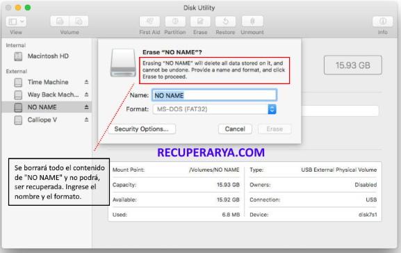 formatear microsd en mac